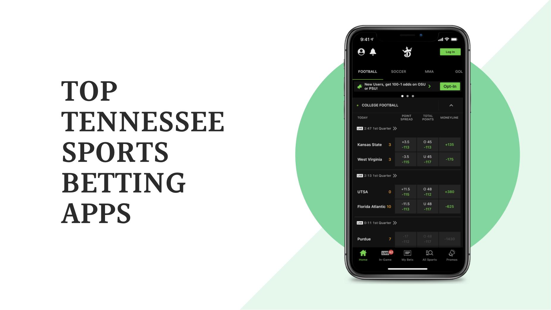 3 Aplikasi Taruhan Olahraga Tennessee Teratas