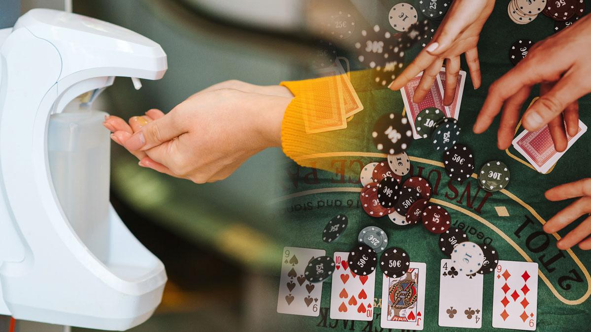 Gambar Pembersih Tangan dan Casino Poker
